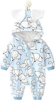 PROTAURI Baby Strampler mit Kapuze, einteiliger Jumpsuit Winter Bodysuit Outfit für Jungen Jungen Mädchen