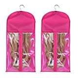 2 Pack Hair Extensions Storage Bag with Hanger Hairpieces Storage Holder Wigs Carrier Case for Store Style Hair
