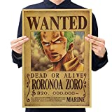Christ For Givek One Piece Wanted Poster Ruffy Choba Retro