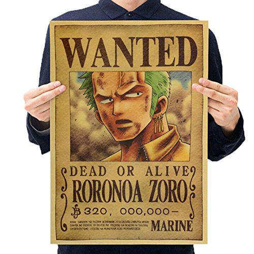 Christ For Givek One Piece Wanted Poster Ruffy Choba Retro Holzpulpe Kraftpapier Poster, Neue Ausgabe(H08)
