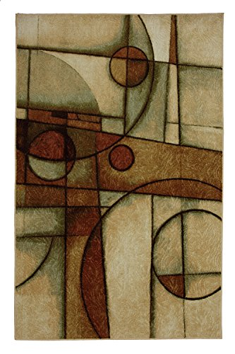 Mohawk Home New Wave Mythology Neutral Geometric Printed Area Rug, 5'x7', Multicolor