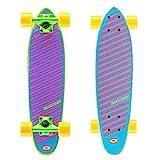 Osprey Glow Complete Mini Cruiser Skateboard, Purple, 24 Inch