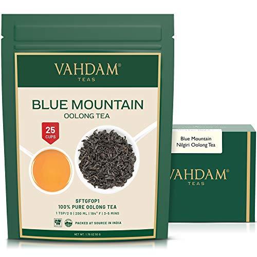 Imperiale Oolong Tee Blätter von den Blauen Bergen, 100% Reiner Weißer Loser Blätter Nilgiri Tee, Direkt vom Glendale Tea Estate in Südindien, Oolong Tee für die Gewichtsabnahme (25 Tassen) 1.76oz