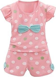 Petitebella Giraffe Heart Shirt Beige Polka Dots Brown Baby Girl Skirt Set 3-12m