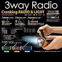報映テクノサービス レッドスパイス クランキングラジオ&ライト ブルー CB-G411BL