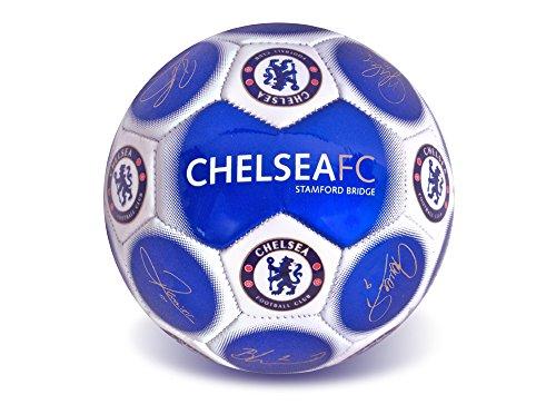 Chelsea FC Offizielles Fußball-Merchandise-Produkt (aufblasbarer Chelsea Signature Ball + eine E-Deals Fußballpumpe und Zubehör)