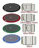 LifeStyle ProAktiv - Filet de Securite et Coussin de Protection pour Trampoline de Jardin 185-430cm -...