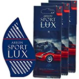 Areon Sport LUX Quality Perfume/Cologne Cardboard Car & Home Air Freshener, Carbon (Pack of 3)