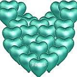 Sunshine smile 30 Stück 21 Zoll Premium Herz Luftballons,Herzform Heliumballons,Herz Folienballon,Herzluftballons Helium Geeignet,Folienballon Rote Herz,Herz Ballons,Folienluftballon,Herz Luftballons