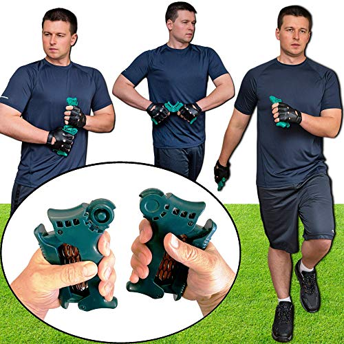 Upper Body Exercise Equipment for Walking, Jogging, Running. Full Body Workout. Weight Loss. Hand Grippers for Walkers Joggers Runners. Isometric Training