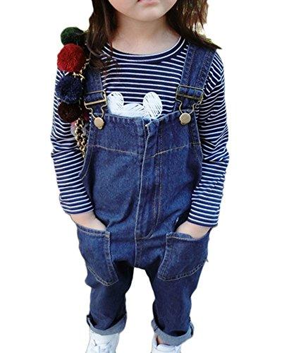 LaoZanA Jeans Latzhose Für Mädchen Denim Hosen Overall Cowboy Jeanshose Jumpsuit Jeans Hose Overall 80CM