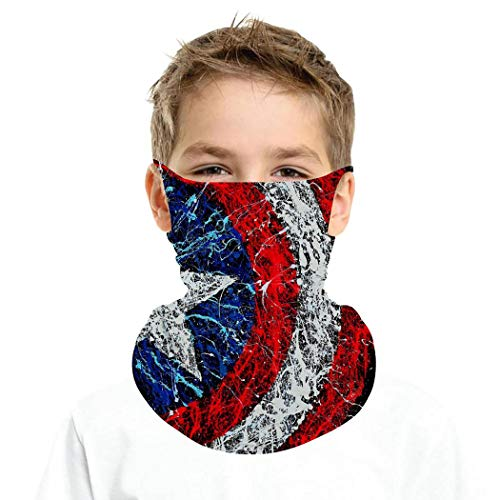 7117 American Spirit Outdoor Ear Hanging Turban Ice Silk Neck Cover Masks Balaclava Scarf
