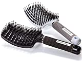 Boar Bristle Hair Brush set - Curved and Vented Detangling Hair Brush for Women Long, Thick, Thin, Curly & Tangled Hair Vent Brush Gift kit