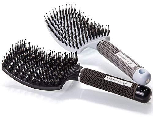 Repsol, Cepillo para pelo de cerdas de Jabalí, Cepillo Desenredarte para Mujer Ventilado y Curvo, Cepillo Ventilado para Pelo Largo, Grueso, Fino, Rizado y Enredado