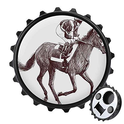 Bottle OpenerMinimalist Equestrian Beer OpenersFridge Magnet,Home and Office Decoration Magnetic Sticker 31in