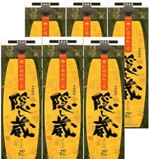 乙 隠し蔵 長期貯蔵 麦25°パック/濱田酒造 1.8L × 6本