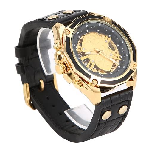 Reloj de pulsera para hombre, agregue su encantador reloj máxima durabilidad con correa de PU para negocios