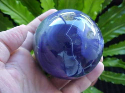 E2801 Limited Special Price Gemqz Blue Purple Sphere Wonderful Agate Ranking TOP9 Carved