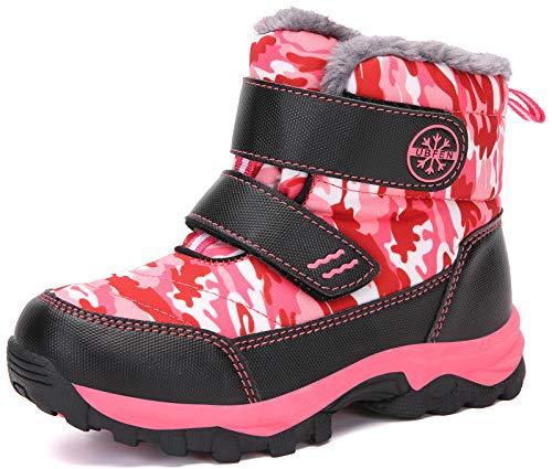 UBFEN Snow Boots Boys Winter Warm Waterproof Outdoor Bootie High Top Slip...