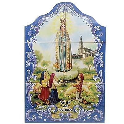 FARPortugal Our Lady of Fatima Apparition Portuguese Ceramic Tile Art Wall Panel Mural Decor