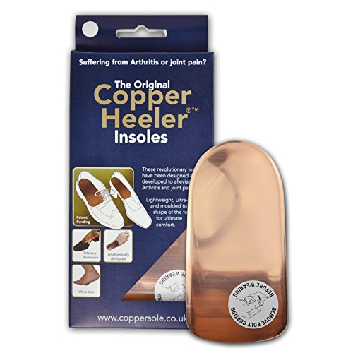 Original Copper Heeler 2 Paar Original Copper Heelers Größe 10-13 - Schmerzlinderung Kupfer Einlegesohlen