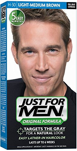 Just For Men H-30 Light-Medium Brown Haircolor (Pack of 2)