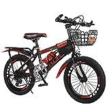 MNB 23 26 Mountain Bike da 28 Pollici per Bambini Single Mountain Bike A velocità Variabile per 7-12 Anni,Red-26in