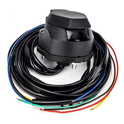SmartSpec 7-polige Anhängersteckdose, PVC, wasserdicht, mit 1,5 m Kabel, 12 V europäscher Anhängerstecker