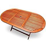 Deuba Gartentisch Esstisch Alabama Klappbar Akazien Holz 160x85cm Holztisch Garten Tisch Gartenmöbel - 3