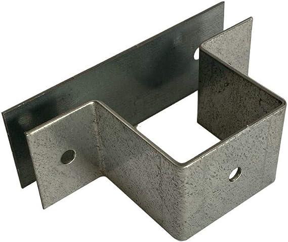 Abrazadera de tubo cuadrada en 20 x 20, 30 x 30, 40 x 40, 50 x 50 con placa de conexión (abrazadera Q 40 x 40 mm + placa de conexión).