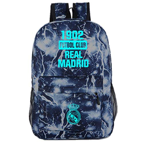 FCflags Real Madrid Backpack Soccer Shoulder Bag Laptop Computer Backpacks Luminous Daypack 1902 Futbol Club