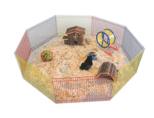 Nobby Parque de Juego 8 Lados para hámster, 91cm de diámetro, Multicolor