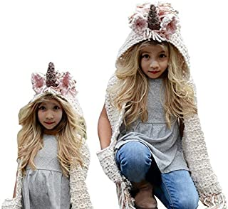Bonice Kids Animal Cap Coat Knitted Hood Balaclava Winter