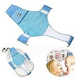 Baby-Badewannensitz für Neugeborene, Babys, Stütznetz für Badewanne, Schlinge für Dusche, Netz, Badeschlaufe (blau)
