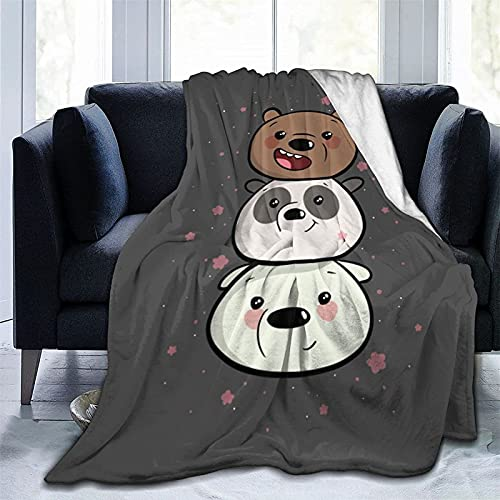 "We Bare Bears - Coperta per bambini, motivo ""We Bare Bears 1"", 150 x 200 cm"