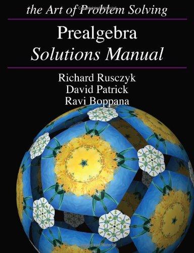 Prealgebra Solutions Manual