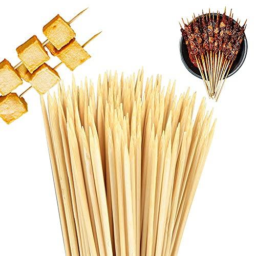 Generisch Grillspieße, Schaschlikspieße, 200 Stück Holzspieße 30 cm, Schaschlikspieße Holz für Grillfeste, Fruchtbambusspieße, Naturholzspieße Aus Bambus für das Grillen und Kochen(3.0mm*30cm)