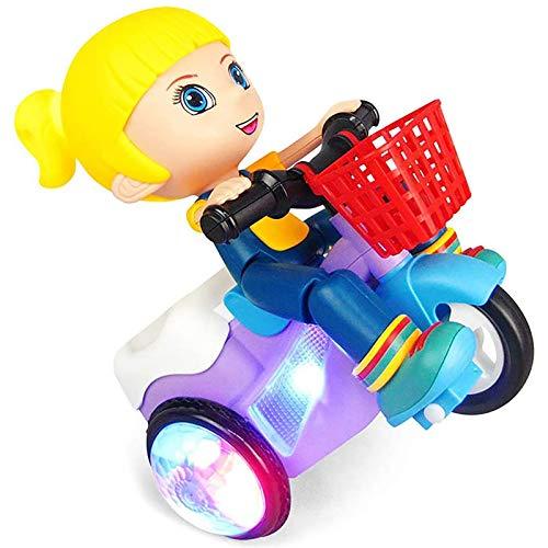 YLME Los Niños Mini Electric Truco Triciclo Juguete, Coche Eléctrico Triciclo Juguete Modelo, 360 Light Music Grados Gira La Dinámica Pequeña Muchacha Historieta Toy Boy,Girl