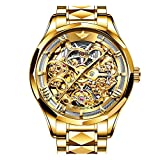 OUPINKE Gold Watches for Men Luxury Men Automatic Watch Skeleton Japan...