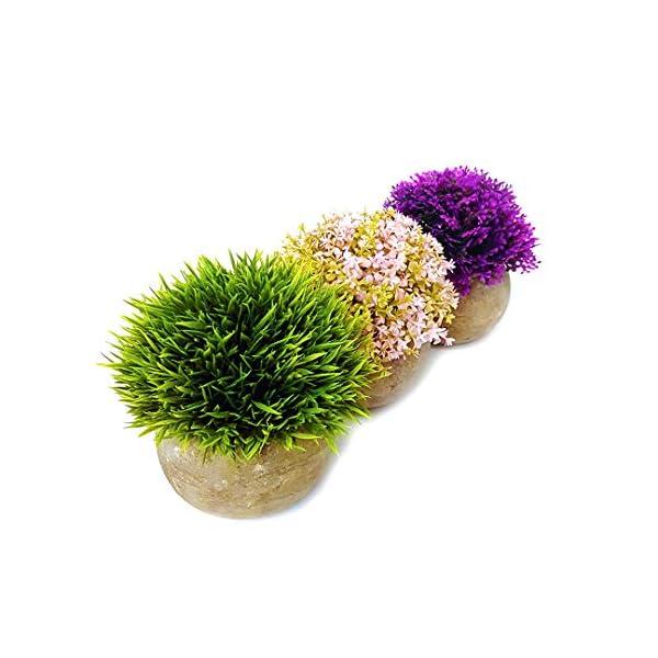 Lovelyz – Plantas artificiales en maceta, miniflores, bonsái para decoración, boda, oficina, regalo, balcón, salón o…