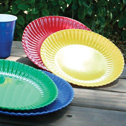 Melamine Colorful Reusable Picnic Plate (Set of 4)