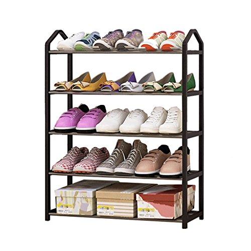 ZZYE Zapatero Rack de Zapatos 5 Ensamblaje de Nivel Estante Multifunción Organizador Multifunción Estantes Shoebox (Negro) Perchero Zapatero