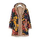 Kobilee Chaqueta de otoño para mujer, larga, elegante, cálida, tallas grandes, forrada, vintage,...