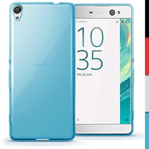 iGadgitz U5533 Funda Compatible con teléfono móvil 15,2 cm (6') Azul, Transparente -(Funda, Sony, Xperia XA Ultra, 15,2 cm (6'), Azul, Transparente)