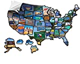 Welcome Board RV State Sticker Travel map 21 x 15 inches for Motorhome Accessories Exterior Vehicle Vinyl State Stickers Decal for Laptops - Refrigerators - Wall - UV Protection Guards Against Fading