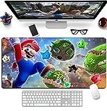 Alfombrilla De Ratón De Dibujos Animados Mario Gaming Alfombrilla De Ratón con Borde De Bloqueo Grande De Goma Otaku DIY Otaku Alfombrilla De Ratón para Teclado De Ordenador 1200x600x3mm