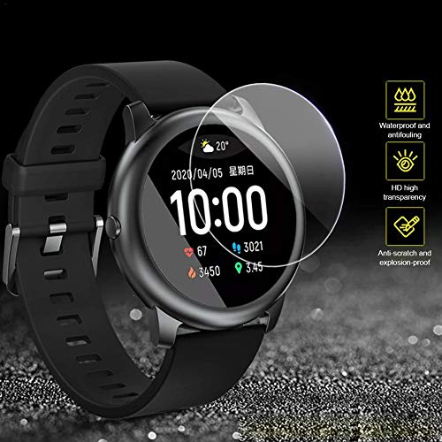 Goodtimera - Protector de pantalla de cristal templado para Haylou Solar Smart Watch