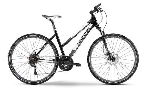 HAIBIKE Hai Land Damen-Crossrad Modell 2013 27-Gang SLX Mix Bike schwarz/weiß (Rahmengrösse 56)