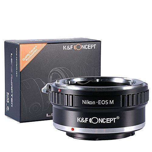 Adaptador de Montaje de Lente de K&F Concept® para Montar la Lente Nikon AI en el Cuerpo...