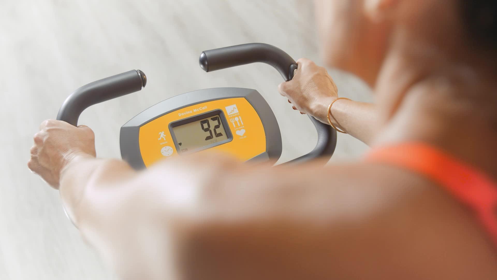 Davina-McCall-Unisexs-Exercise-Bike-OrangeGrey-One-Size